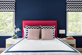 blue and pink combine in contemporary teen s room