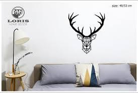 deer head wall art home decor living