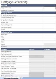 Free Excel Mortgage Calculator Mortgage Refinance Comparison Calculator Radiovkm Tk