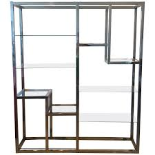 shelves on sale. Modren Sale Chrome Etagere Vintage Display Shelves TenShelf Glass Hollywood Regency  For Sale Intended On