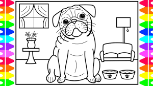 You might also like these coloring pages: How To Draw A Pug Dog Drawings For Kids Dog Coloring Pages For Kids Youtube