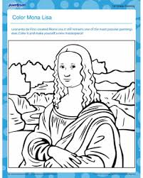 Small Picture Color Mona Lisa Free Printable Coloring Page for Kids JumpStart