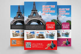 Tour Travel Agency Flyer Template Flyers Nice Ad Flyer