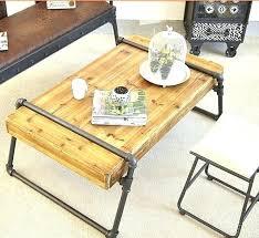 industrial pipe furniture. Pipe Coffee Table Industrial Furniture Solid Wood Factory Custom