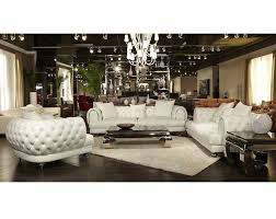 Michael Amini Living Room Furniture Mia Bella Ellia Leather Standard Sofa By Michael Amini D2d
