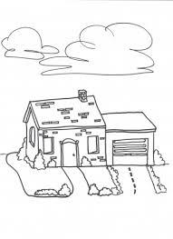 Huizen Huis Met Garage Kleurplaten