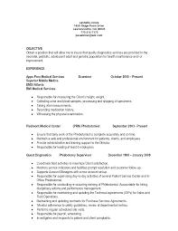 Qualifications Resume Phlebotomist Sample Entry Level Phlebotomy