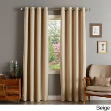 Aurora Home Silver Grommet Top Thermal Insulated 96-inch Blackout Curtain  Panel (Beige)