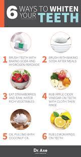 naturally whiten teeth infographic chart