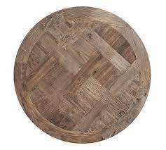 parquet 36 round reclaimed wood coffee