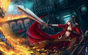 devil may cry 3 dmc 3 fantasy warrior magic fire sword weapon wallpaper 1920x1200 124620 wallpaperup
