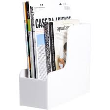 White Magazine Holders Palaset Magazine rack featuring polyvore home home decor small 39