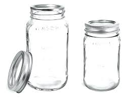 clear glass jars mason w silver two piece canning lids with c