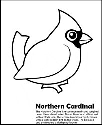 Small Picture Northern Cardinal coloring page Animals Town Free Northern