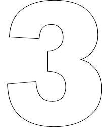 3 Template Number Stencils Set No 1 Free Printable Numbers Number