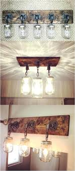 homemade lighting fixtures pretty rustic bathroom lighting fixtures mason jars jar vanity light diy outdoor lighting fixtures