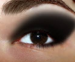 just my personal view i feel that too dark makeup with dark eyes can wash your eye out and you start to look the dimension of your face