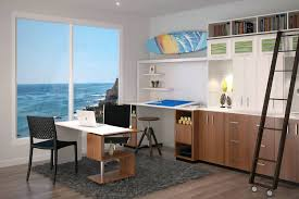 two desk office layout. Gorgeous Modern Office With View Of The Ocean Two Desk Home Layout Person Double Sided O