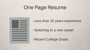 How Long Should Your Resume Be In 40 ZipJob Fascinating Should Resumes Be One Page