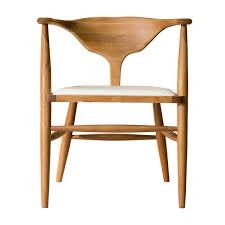 Organic Modern Furniture Organic Modernism Peking Dining Chair Oak Leather Modern
