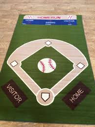 baseball field rug rugs fields and room