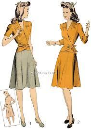 1940s Dress Patterns Impressive 48s Sewing Patterns Dresses Overalls Lingerie Etc