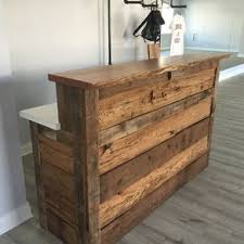 Reclaimed Barnwood Reception Desk by Matthew Karl