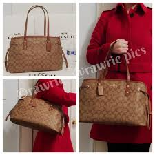 ... Coach Monogram Tote Tote Logo Classic Brown Travel Bag ...
