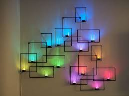 image of colorful battery powered wall sconce