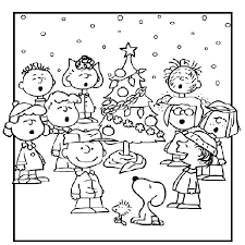 Charlie Brown Christmas Coloring Page Coloring Pages For Kids