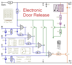 how to build a keypad operated door lock release circuit diagram of a keypad operated electronic door release