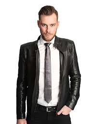 home jackets men black leather suit