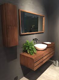 wood bathroom vanity. Floating Wood Vanity With A Mid Century Flair Bathroom B