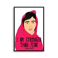 Malala Quotes Inspiration I Am Stronger Than Fear Malala Malala Yousafzai Quotes Etsy