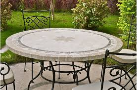 63 round outdoor patio table stone marble mosaic mexico