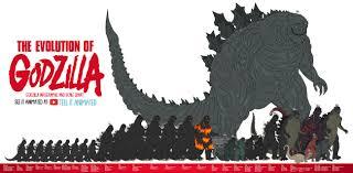 Godzilla Chart The Evolution Of Godzilla Height Chart By Tell It Animated