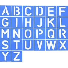 Stencil Letters Amazon Com Shappy 26 Pieces Plastic Letter Stencil Alphabet
