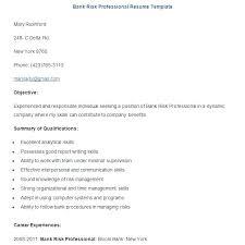Sample Of Resume For Banking Job Eddubois Com