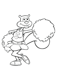 Sandy Cheeks Coloring Pages Free Chronicles Network