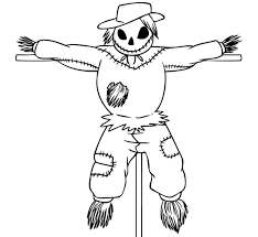Small Picture Scarecrow Coloring Page Coloring Pages