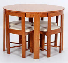 requiredgoods pact stowaway solid rubberwood dining room sets 4 solid chairs dining room table