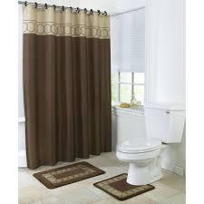 bathroom accessories set walmart. 4 piece bathroom rug set/ 3 chocolate ring bath rugs with fabric shower curtain and matching mat/rings - walmart.com accessories set walmart