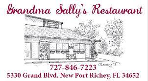 grandma sally s new port richey menu