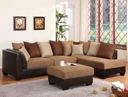 brown sectional sofas. Unique Sofas Sectional Sofa In Light Brown Terylene Fabric Throughout Sofas C