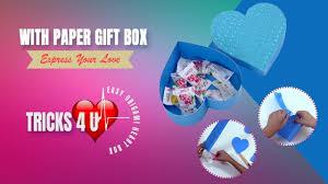 easy origami heart box cute gift box with paper 2018 tricks 4 u