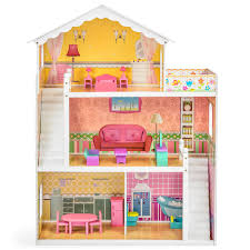 barbie wood furniture. Best Choice Products Large Childrens Wooden Dollhouse Fits Barbie Doll House Pink W/ 17 Pieces Of Furniture - Walmart.com Wood I