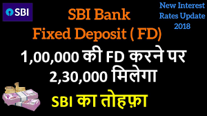 Sbi Fd Plan Chart Sbi Fixed Deposit Scheme Fd Fd Calculator 1 August 2018 Shubh Sanket Financial Advisor