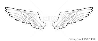 羽 シンプルのイラスト素材 45586332 Pixta