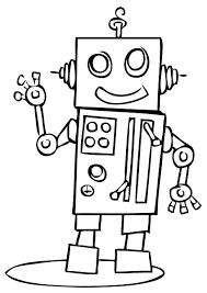 Small Picture Free Robot Coloring Pages Robots Pinterest Robot