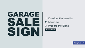 6 Garage Sale Sign Templates Psd Eps Vector Free
